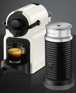 Inissia White Coffee Machine